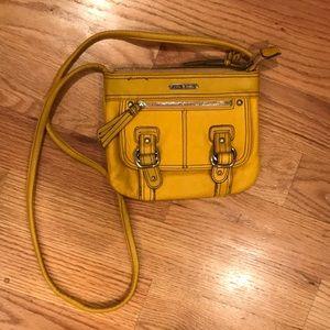 Dark gold crossbody purse